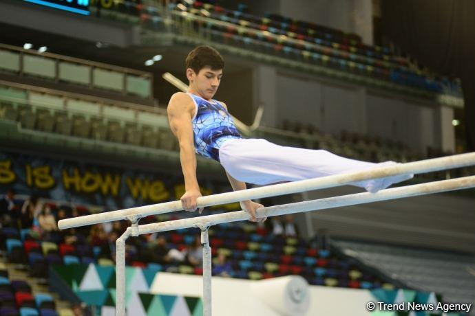 """Gimnastlarımız paralel qollarda """"AGF Junior Trophy"""" beynəlxalq turnirinin finalına yüksəliblər"""