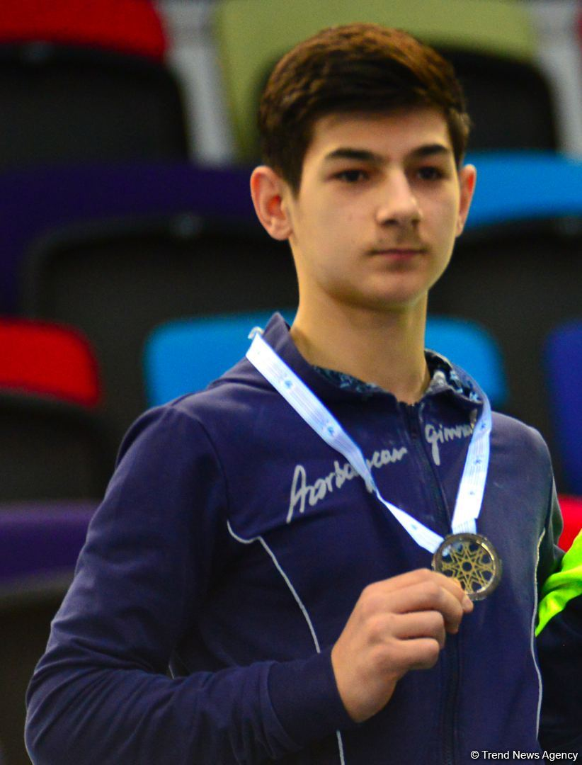 Azerbaijani gymnast wins silver medal in floor exercises at 1st AGF Junior Trophy International Tournament