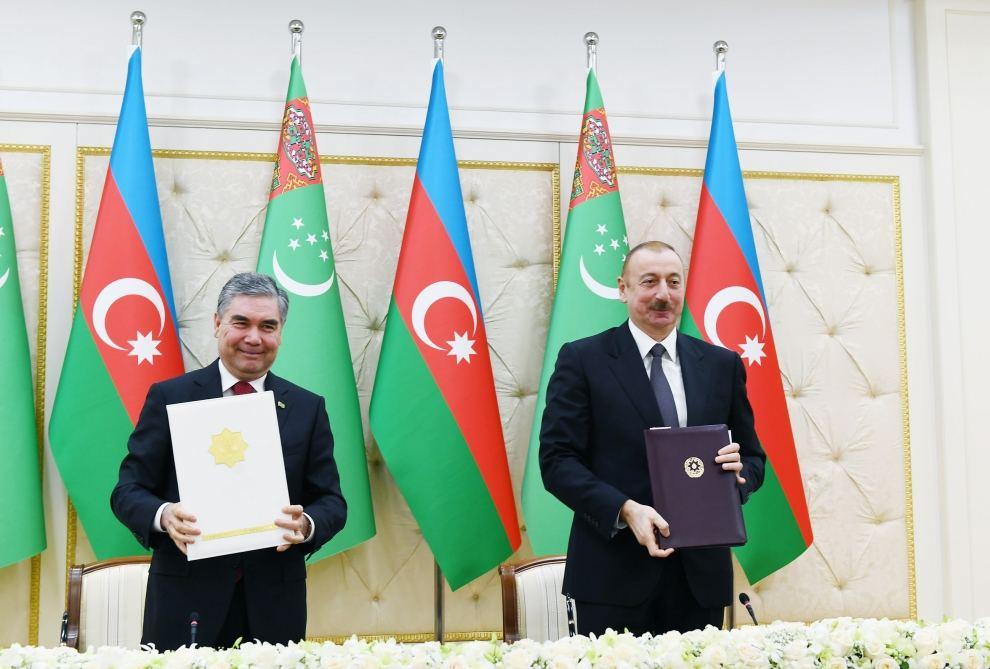 Подписаны азербайджано-туркменские документы (ФОТО) (ВИДЕО) (версия 2) - Gallery Image