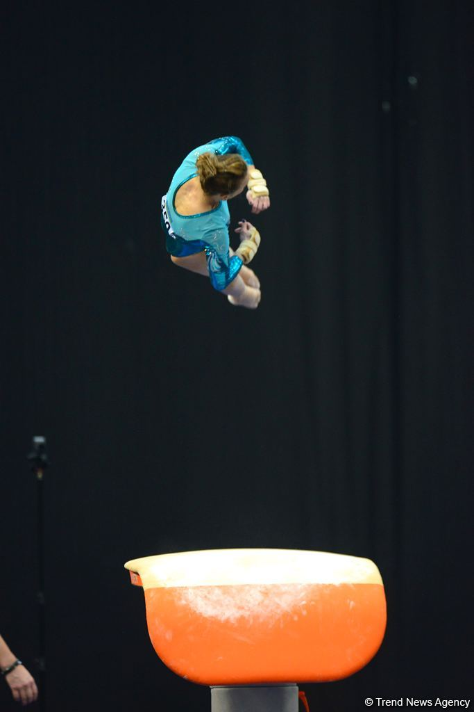 First day of FIG Artistic Gymnastics Apparatus World Cup kicks off in Baku (PHOTO) - Gallery Image