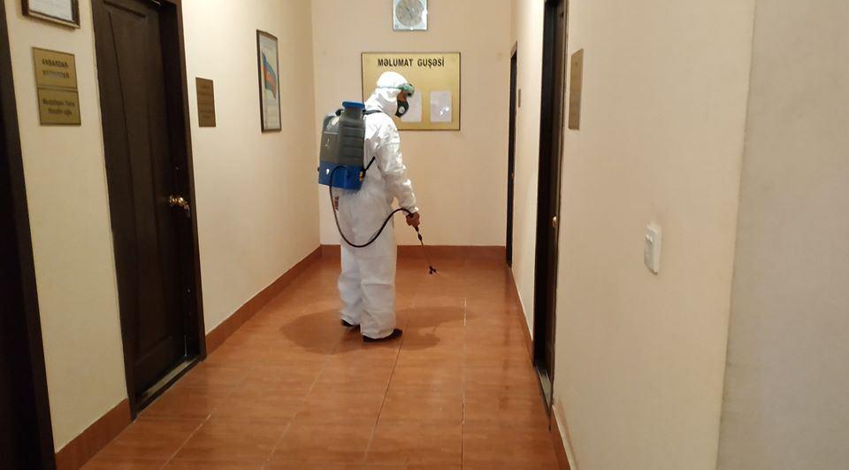 AAYDA-nın idarələri dezinfeksiya edilir (FOTO) - Gallery Image