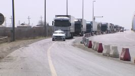 Movement of transit trucks ensured in Azerbaijan, says ministry (PHOTO/VIDEO) - Gallery Thumbnail
