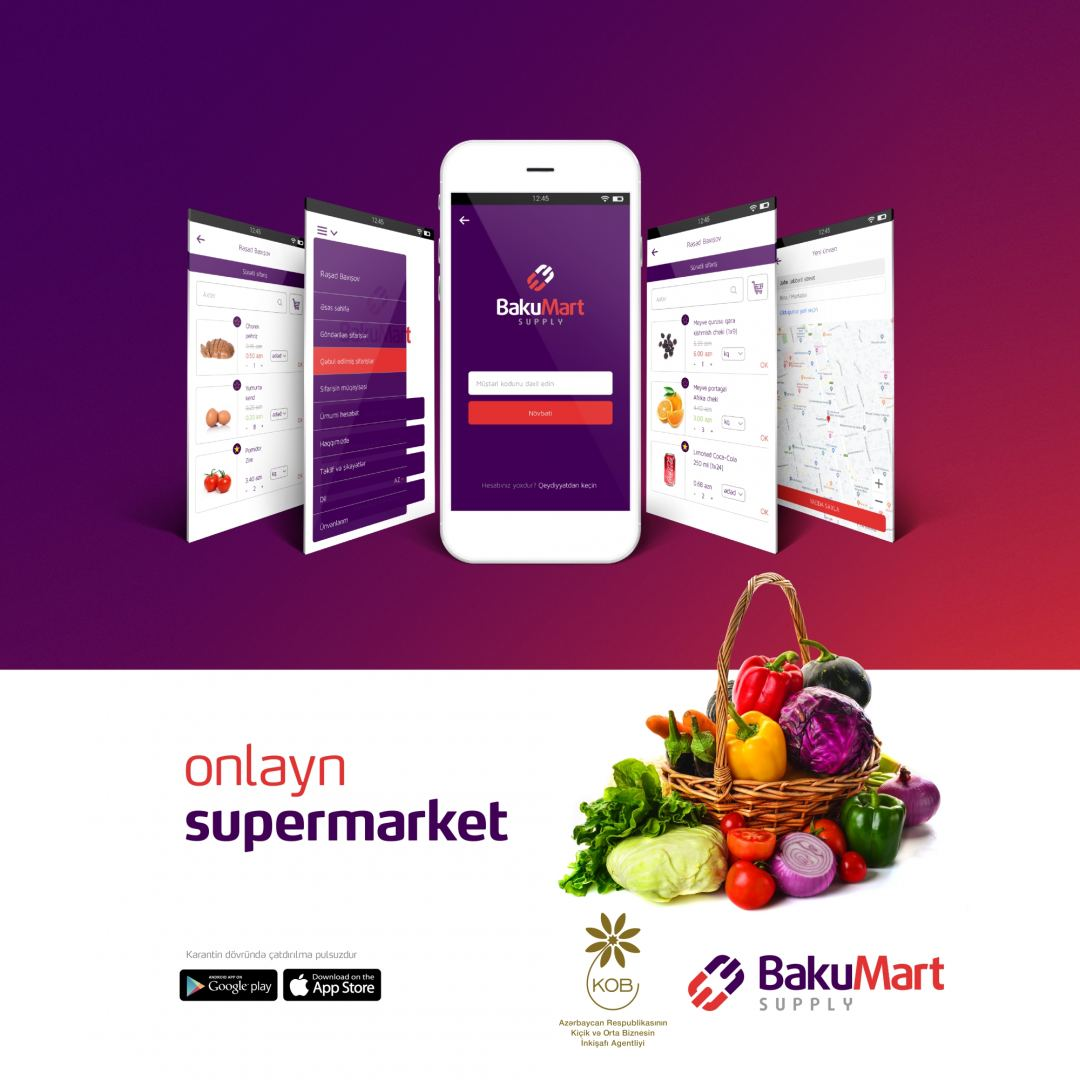 Online supermarket created with help of Azerbaijani Agency for Development of SMEs
