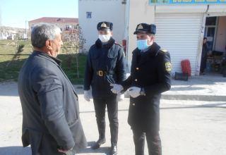 Xızı polisi koronavirusla bağlı maarifləndirmə tədbirlərini davam etdirir (FOTO)