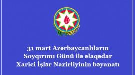 Azerbaijan's MFA makes statement on March 31 - Day of Genocide of Azerbaijanis - Gallery Thumbnail