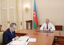 President Ilham Aliyev received minister of economy (PHOTO) - Gallery Thumbnail