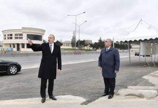 President Ilham Aliyev: Baku-Sumgayit road and all interchanges must be put into operation within about two, maximum three months