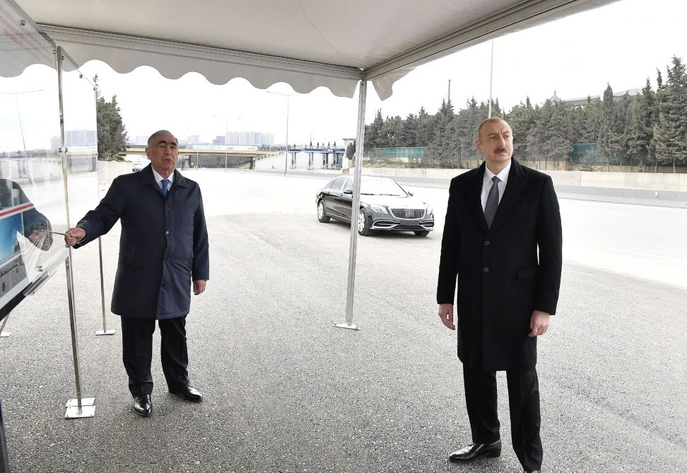 Azerbaijani president attends inauguration of pedestrian crossing at intersection of Moscow Avenue and 20 January Street (PHOTO) - Gallery Image