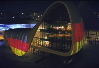 Heydar Aliyev Center supports Germany amid COVID-19 outbreak (VIDEO)