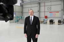 President Ilham Aliyev, First Lady Mehriban Aliyeva attend opening of medical masks manufacturing enterprise in Sumgayit Chemical Industrial Park (PHOTO/VIDEO) - Gallery Thumbnail