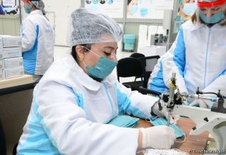 Azerbaijan launches production of medical masks (PHOTO/VIDEO) (UPDATE)