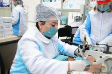 Azerbaijan launches production of medical masks (PHOTO/VIDEO) (UPDATE) - Gallery Thumbnail