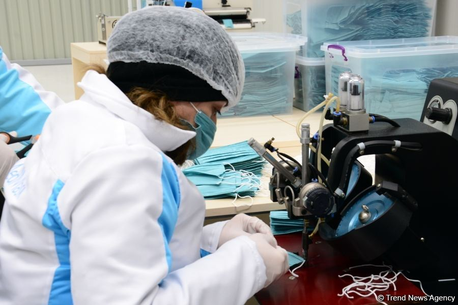 Azerbaijan launches production of medical masks (PHOTO/VIDEO) (UPDATE) - Gallery Image