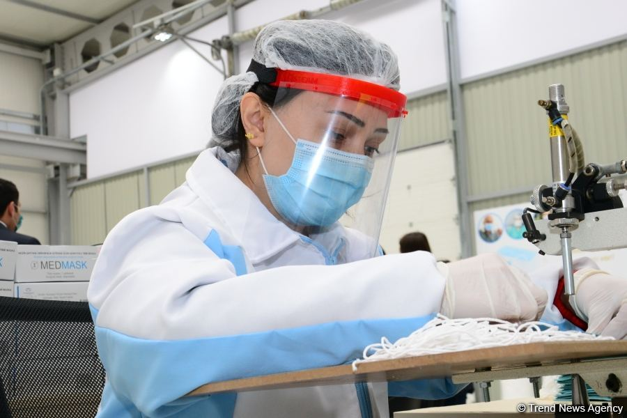 Azerbaijan launches production of medical masks (PHOTO/VIDEO) - Gallery Image