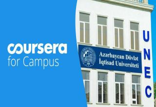 "Students of UNEC show high activity in ""Coursera for Campus"""