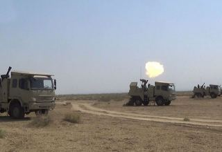 Azerbaijani armed forces' mortar batteries perform combat firing (PHOTO/VIDEO)