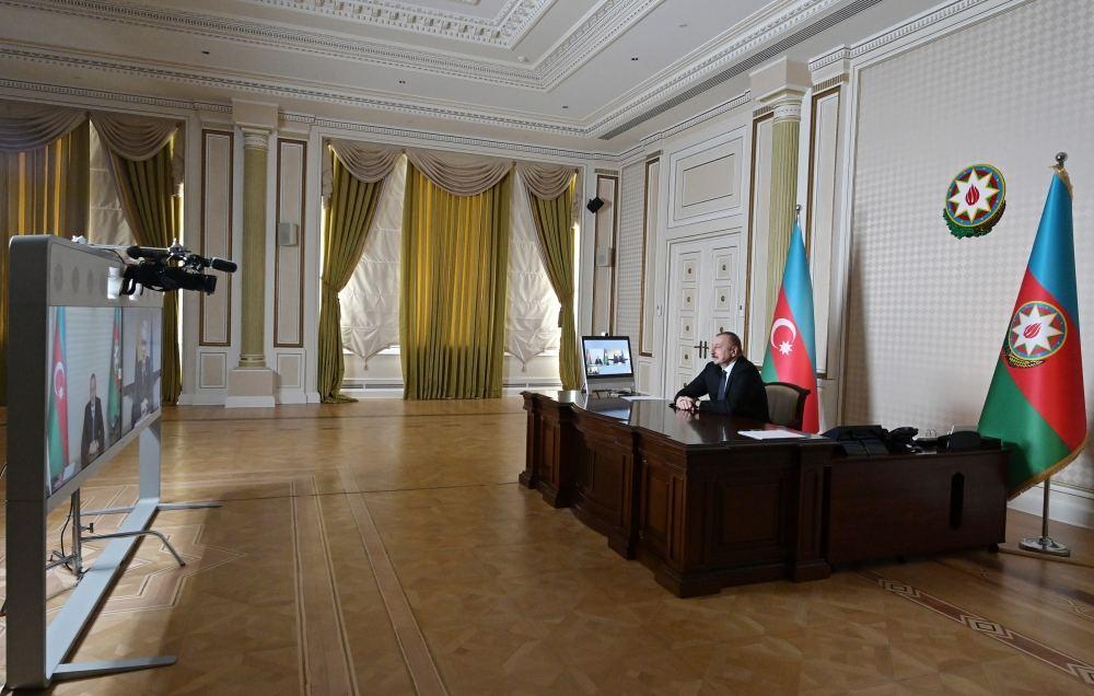 Между Президентом Литвы Гитанасом Науседой и Президентом Ильхамом Алиевым состоялся разговор в формате видеосвязи (ФОТО) (Cверсия 2)