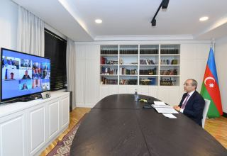 Azerbaijan's economy minister attends Turkic Council's videoconference (PHOTO)