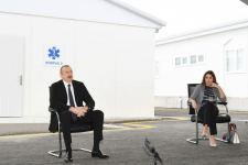Azerbaijani president, first lady attend opening of Baku's first modular hospital complex (PHOTO/VIDEO) - Gallery Thumbnail