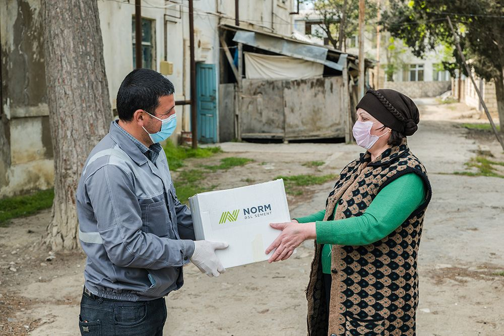 Norm Cement provided food assistance to low-income families living in Garadagh (PHOTO) - Gallery Image