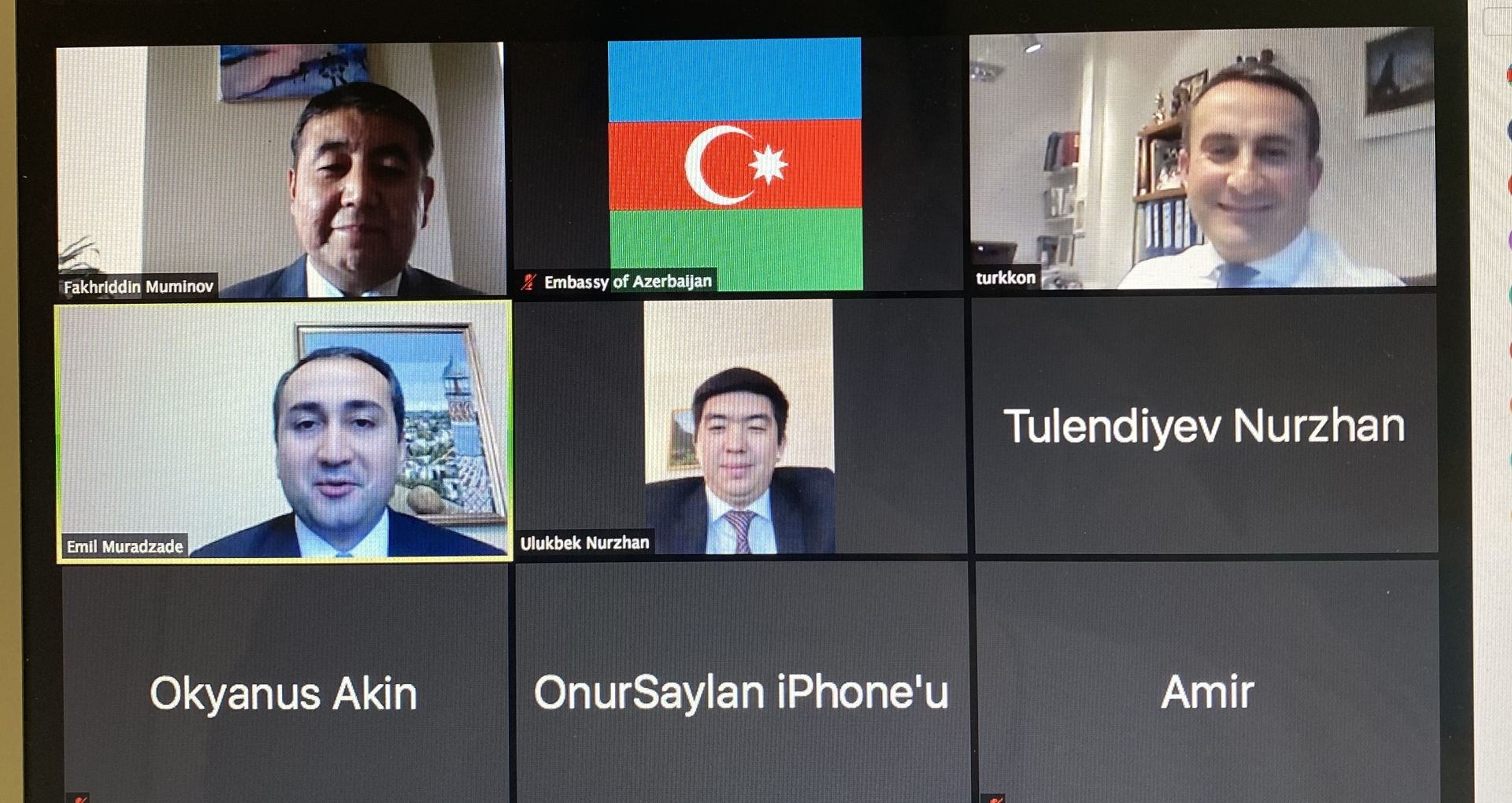 Consuls of Turkic Speaking States in Washington hold meeting via video conference