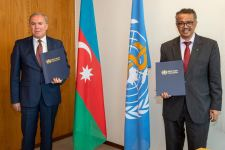 Azerbaijan, WHO sign donor agreement (PHOTO) - Gallery Thumbnail