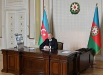 Videoconference held between Azerbaijani president, CISCO company management (PHOTO) - Gallery Thumbnail