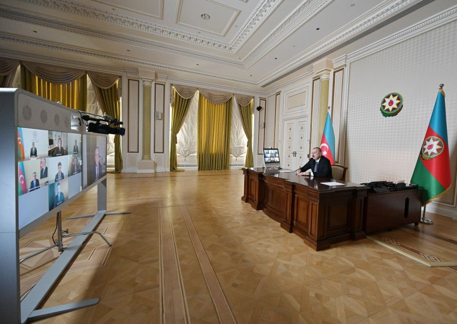 Videoconference held between Azerbaijani president, CISCO company management (PHOTO) - Gallery Image