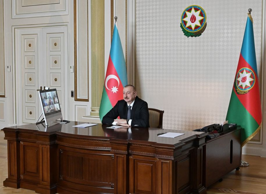 Videoconference held between Azerbaijani president, CISCO company management (PHOTO)