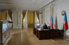 Azerbaijani president receives newly appointed officials via video meeting (PHOTO/VIDEO) - Gallery Thumbnail