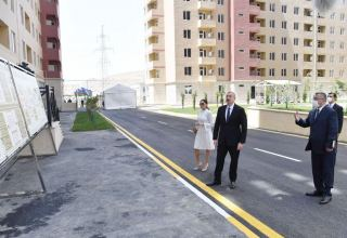 Azerbaijani president, first lady inaugurate Gobu Park-3 residential complex for IDPs (PHOTO)