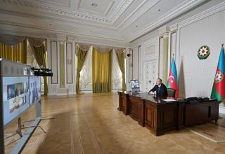 Videoconference initiated by ADB held between Azerbaijani president and bank's senior executives PHOTO)