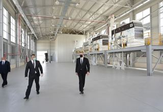 Azerbaijani president inaugurates grain processing plant in Aghjabadi (PHOTO/VIDEO)
