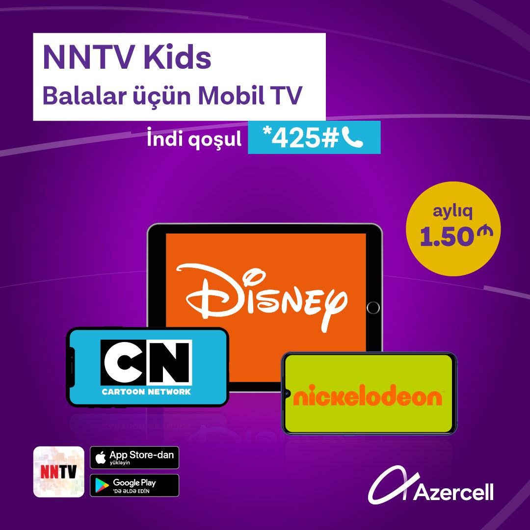 """Azercell introduces new """"Mobile TV"""" service for kids"""