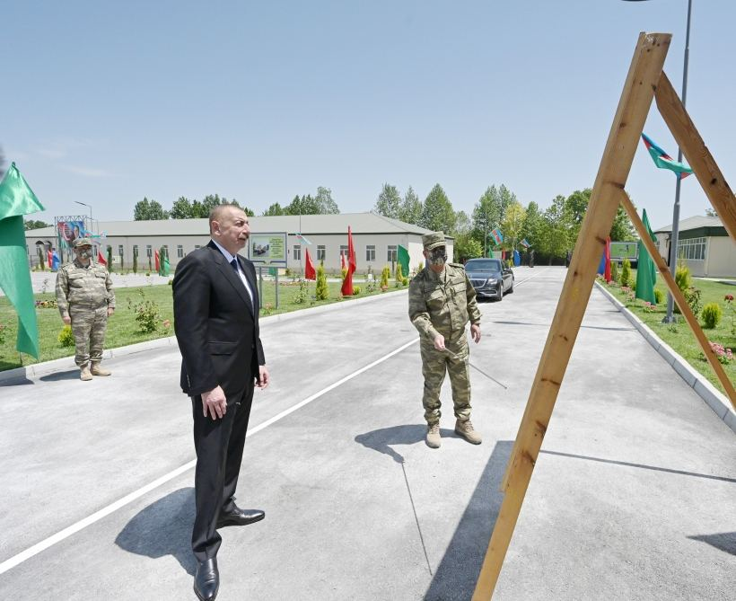 Azerbaijani president visits military unit in Aghdam (PHOTO/VIDEO) - Gallery Image