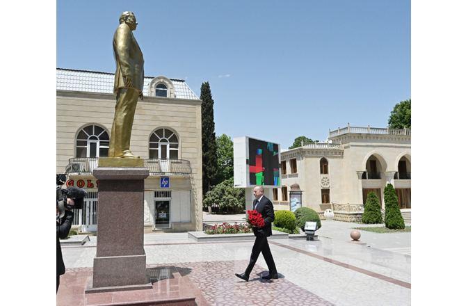 Президент Ильхам Алиев прибыл в Тертерский район (ФОТО/ВИДЕО)