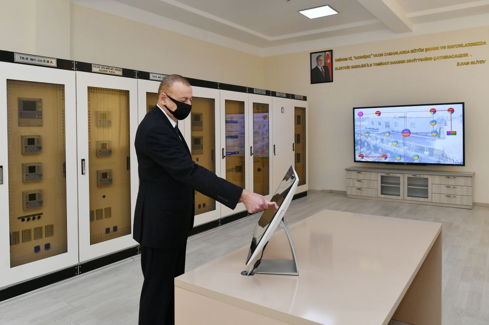 Azerbaijani president launches newly renovated 'Tartar' power substation (PHOTO/VIDEO)