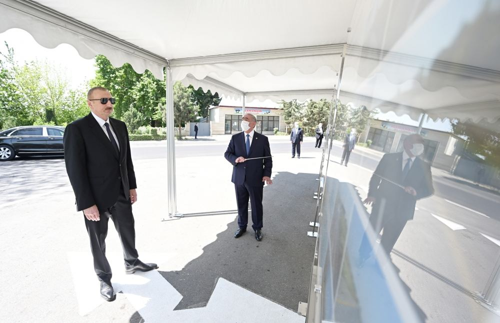 Azerbaijani president opens newly renovated highway (PHOTO/VIDEO)