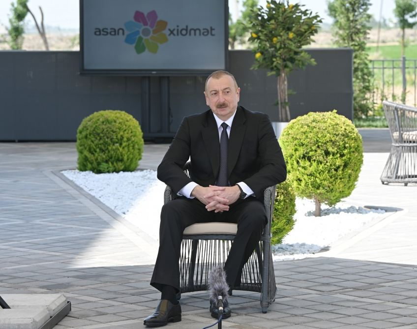 "Azerbaijani president inaugurates ""ASAN xidmet"" center in Aghjabadi (PHOTO/VIDEO) - Gallery Image"