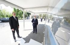 Azerbaijani president opens newly renovated highway (PHOTO/VIDEO) - Gallery Thumbnail