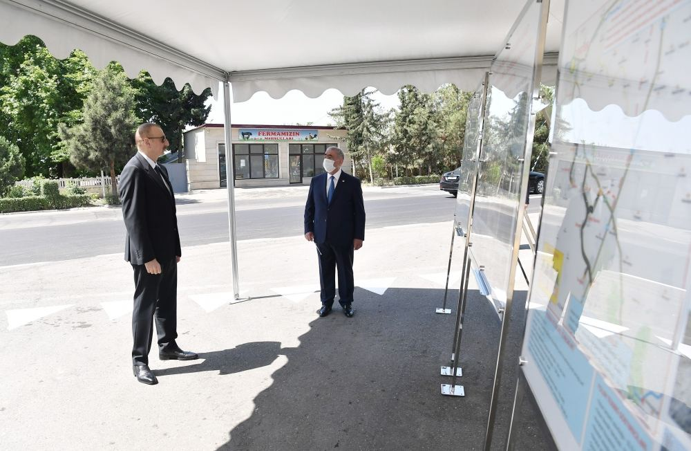 Azerbaijani president opens newly renovated highway (PHOTO/VIDEO) - Gallery Image