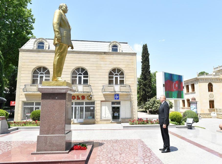 Президент Ильхам Алиев прибыл в Тертерский район (ФОТО/ВИДЕО) - Gallery Image