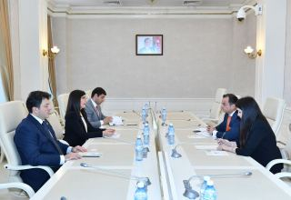 Charge d'Affaires of Spanish embassy  in Azerbaijan meets with reps of Azerbaijan-Spain Working Group on Inter-Parliamentary Relations (PHOTO)