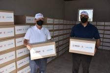 Ambassador Lee Litzenberger Visits Red Crescent Warehouse ahead of Delivery of Hygiene Supplies to 600 Households (PHOTO) - Gallery Thumbnail
