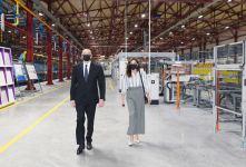 Президент Ильхам Алиев и Первая леди Мехрибан Алиева приняли участие в открытии завода по производству искусственного мрамора и гранита в Гяндже (ФОТО) (версия 2) - Gallery Thumbnail