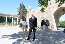Президент Ильхам Алиев и Первая леди Мехрибан Алиева ознакомились с восстановительно-консервационными работами в части Ичеришехер (ФОТО/ВИДЕО) - Gallery Thumbnail