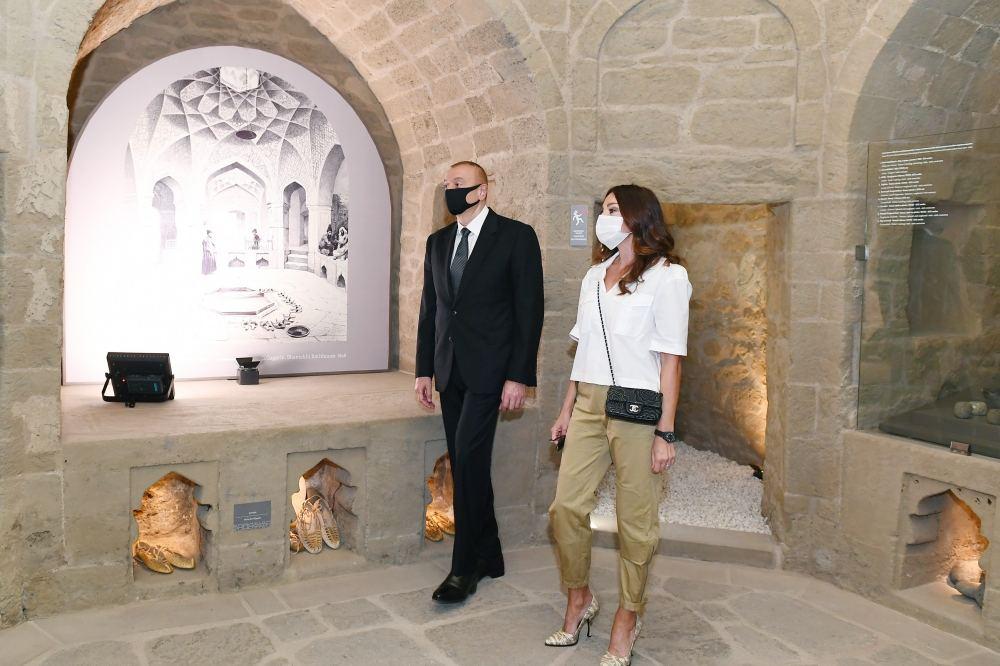 Президент Ильхам Алиев и Первая леди Мехрибан Алиева ознакомились с восстановительно-консервационными работами в части Ичеришехер (ФОТО/ВИДЕО) - Gallery Image