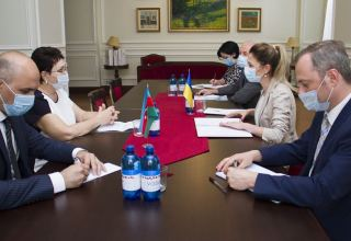 Azerbaijan, Ukraine highly appreciate cooperation at int'l organizations (PHOTO) (UPDATE)