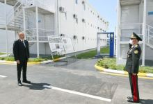 Azerbaijani president, first lady attend inauguration of modular hospital in Baku (PHOTO/VIDEO) - Gallery Thumbnail