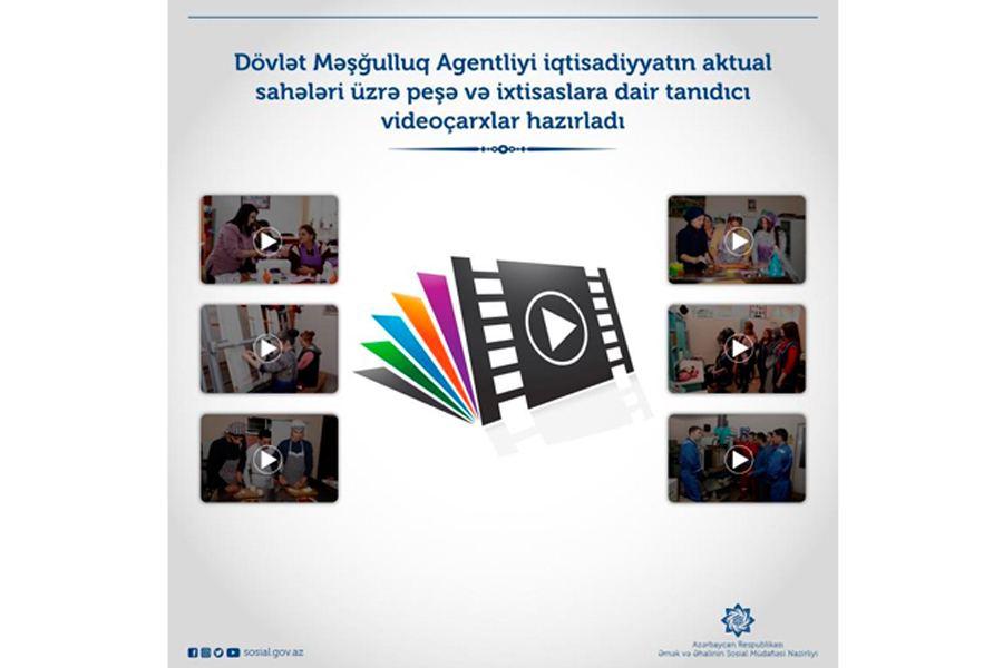Dövlət Məşğulluq Agentliyi iqtisadiyyatın aktual sahələri üzrə peşə və ixtisaslara dair tanıdıcı videoçarxlar hazırlayıb